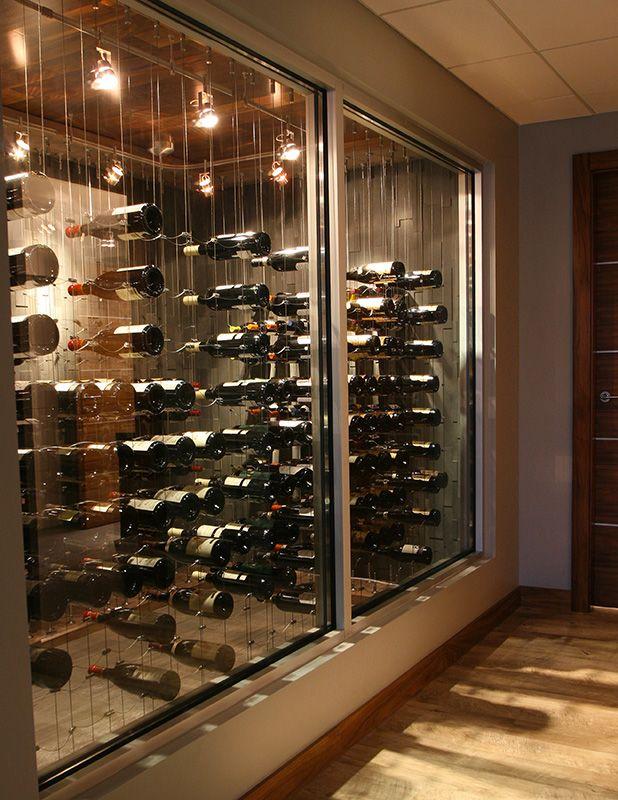 modern wine cellar cable wine system 1 vinoteca Pinterest Wine