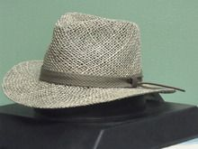 BLACK CREEK BC9021 VENTED SEA GRASS STRAW FEDORA HAT  48edb03be554