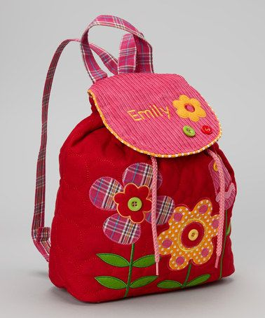 Personalized Flower Signature Backpack by
