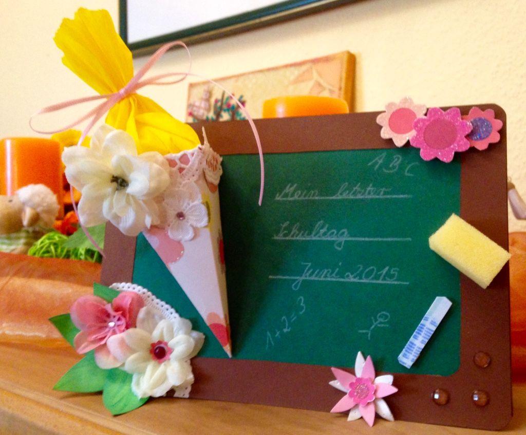 """Karte Abschied Schulleiterin Text """"Mein letzter Schultag"""" & Datum"""