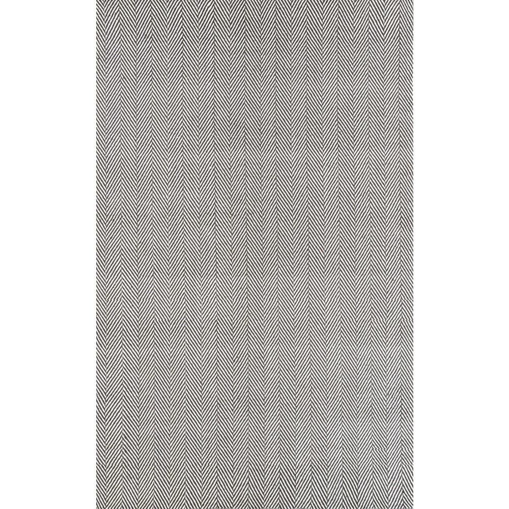 Nuloom Herringbone Cotton Grey 8 Ft X 10 Ft Area Rug