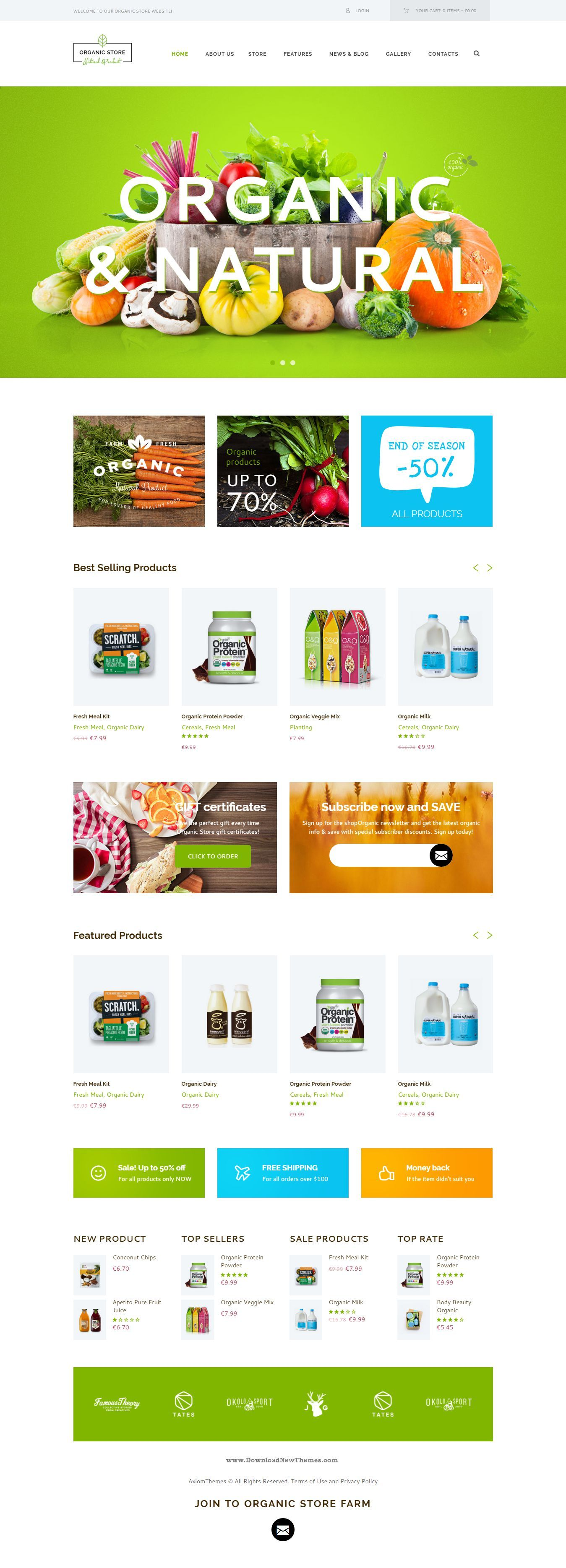 Organic Store - Organic Food & Eco Products Theme #WordPress #eCommerce…