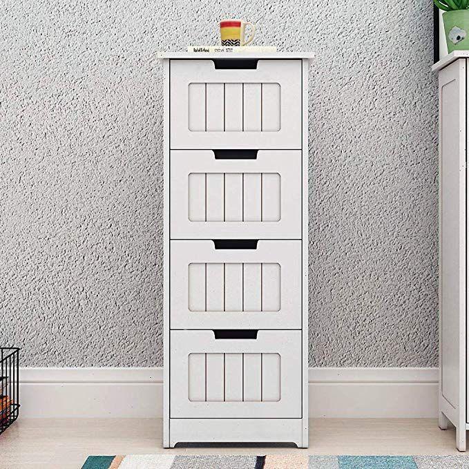 dlandhome bathroom storage cabinet 4 drawer free floor