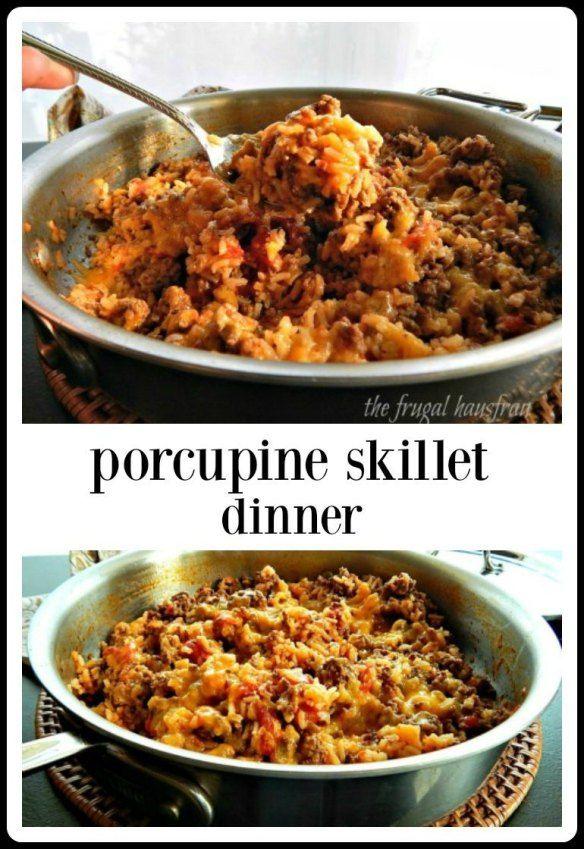 Porcupine Skillet Dinner images
