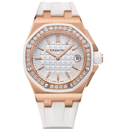 Royal Oak Offshore Quartz Crafted In 18k Pink Gold With Diamond