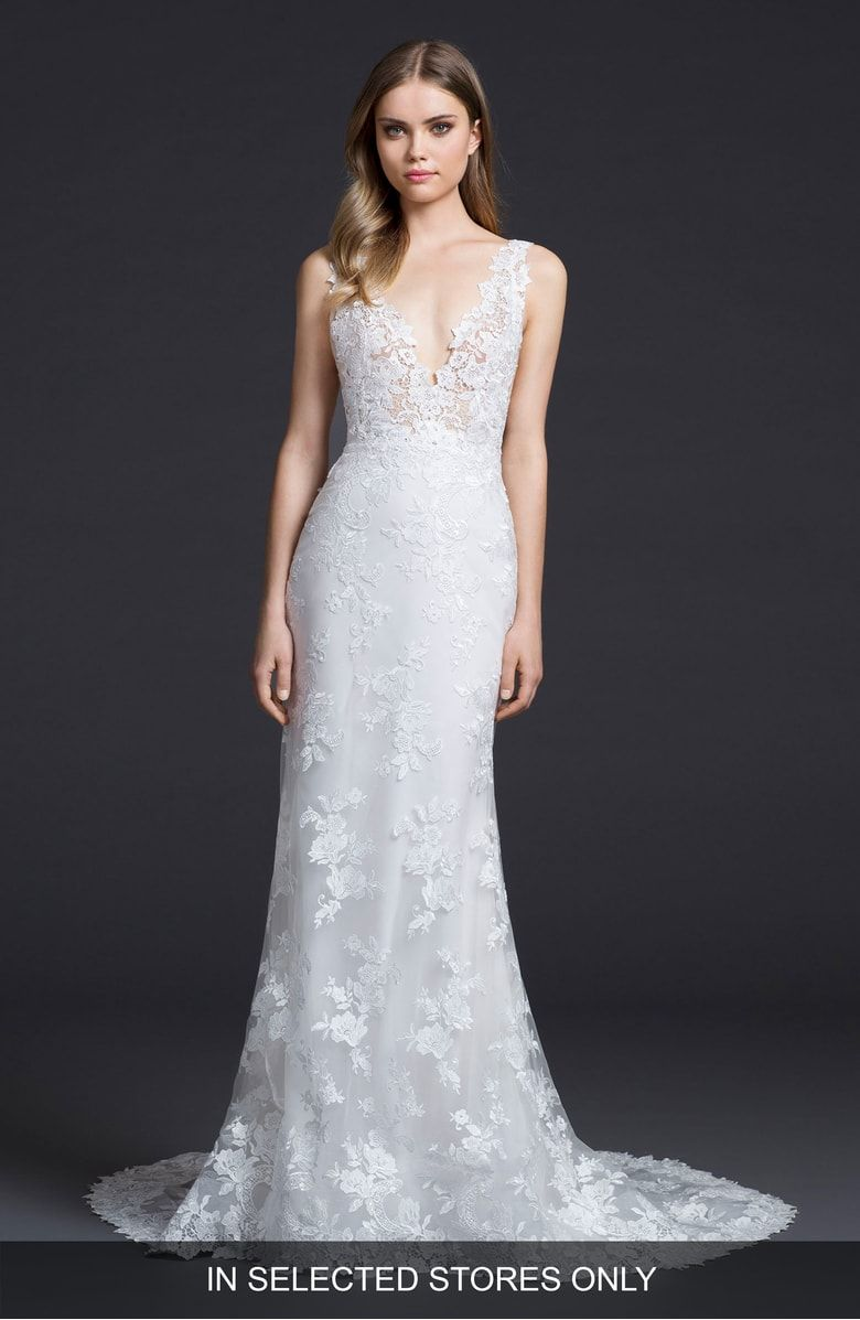 Lazaro Venice Lace Sheath Gown at Nordstrom.com. Bunches of delicate ...