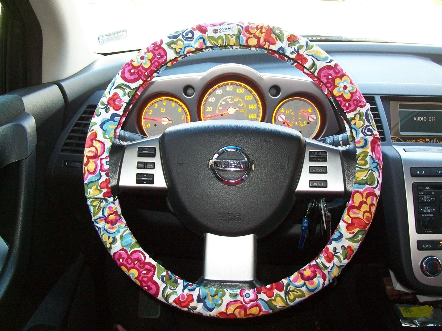vera bradley designer inspired steering wheel cover by mammajane on etsy for the car. Black Bedroom Furniture Sets. Home Design Ideas