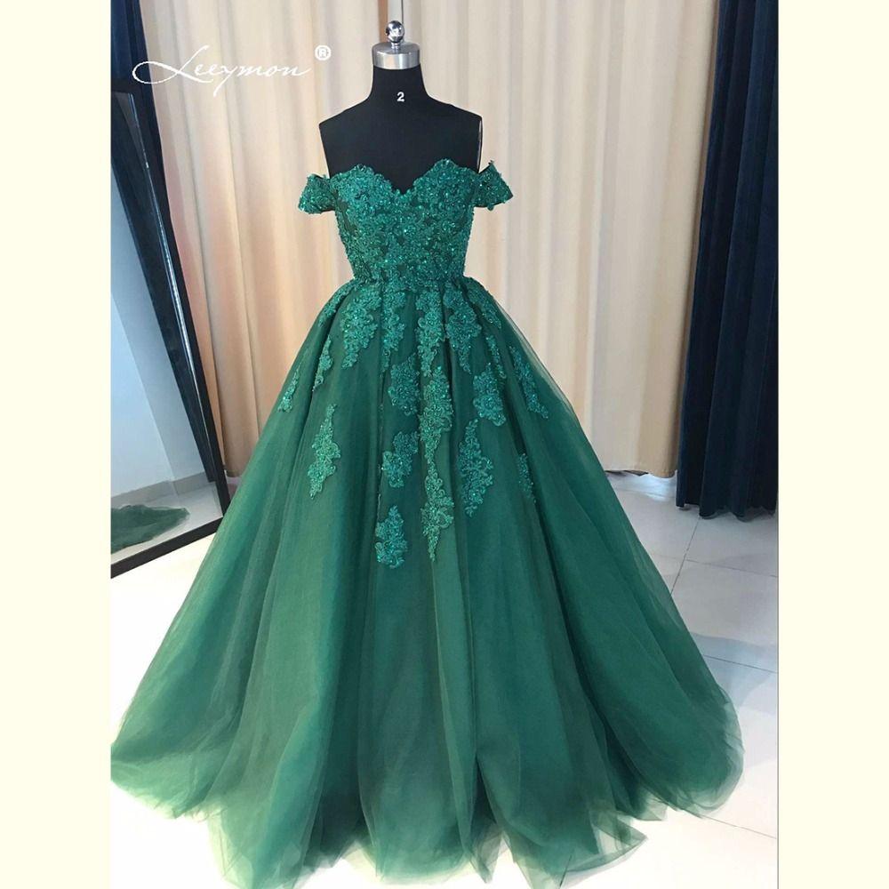 Leeymon luksusowe off ramię koronkowa suknia balowa suknie