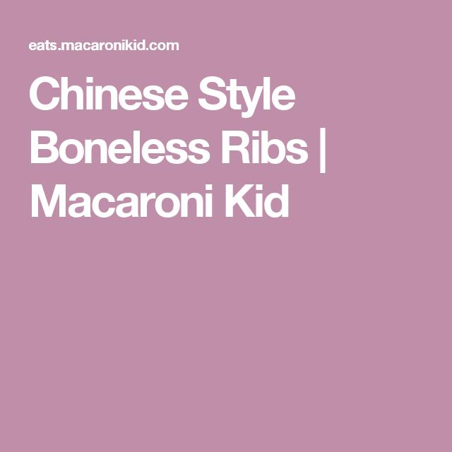 Chinese Style Boneless Ribs | Macaroni Kid