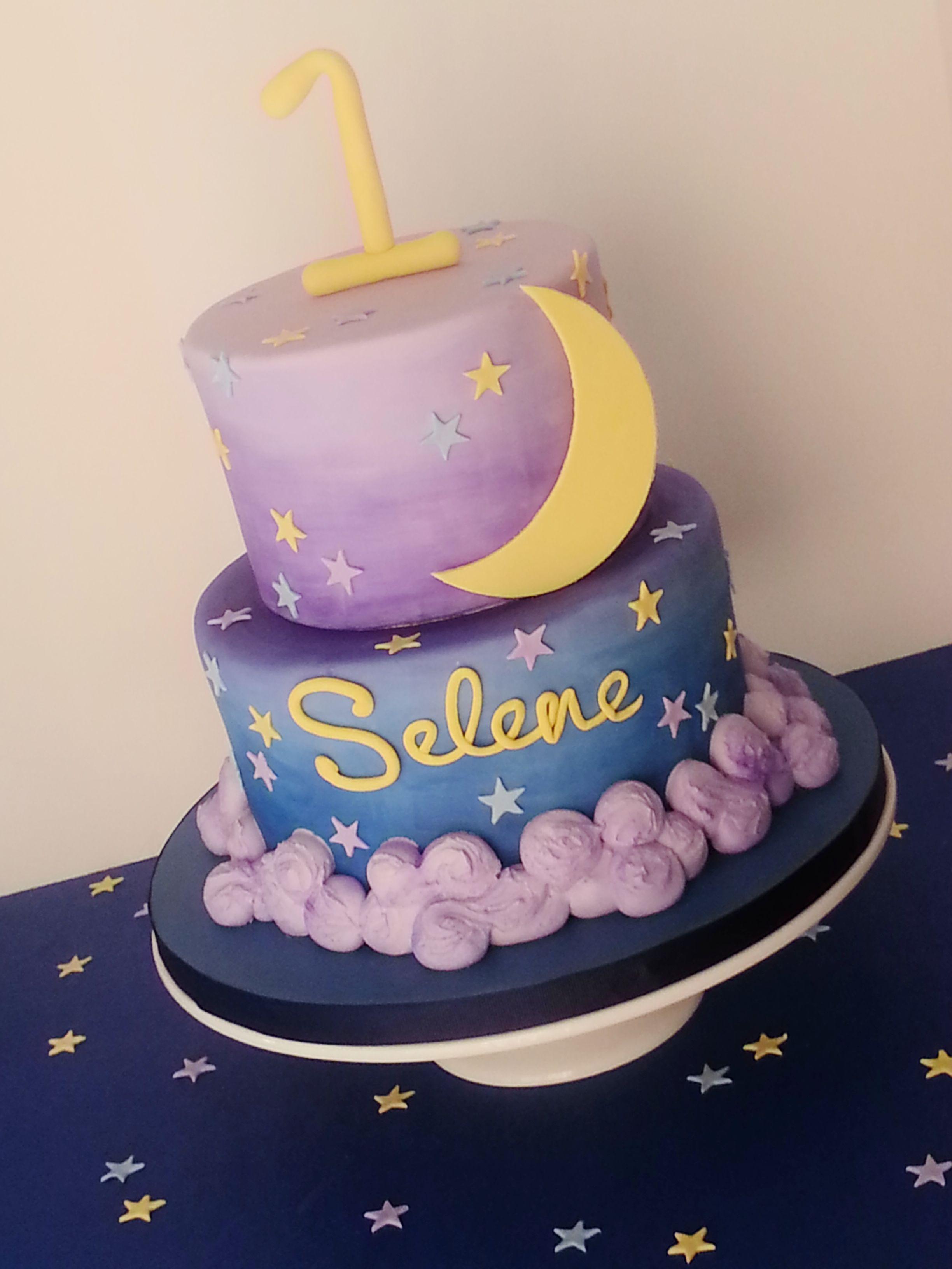 Moon And Stars Cake By Joy S Cake Studio Baby Shower