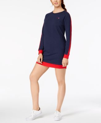a382939d136e Tommy Hilfiger Sport Racing-Stripe French Terry Sweatshirt Dress, Created  for Macy's - Black XXL