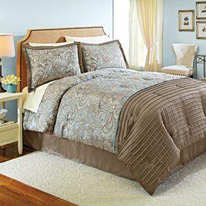 MASTER BEDROOM   Better Homes And Gardens Prescott Bedding Comforter Set    Brown And Blue