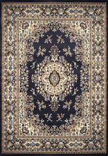 TRADITIONAL PERSIAN NAVY BLUE BORDERED AREA RUG ORIENTAL MULTI-COLOR CARPET