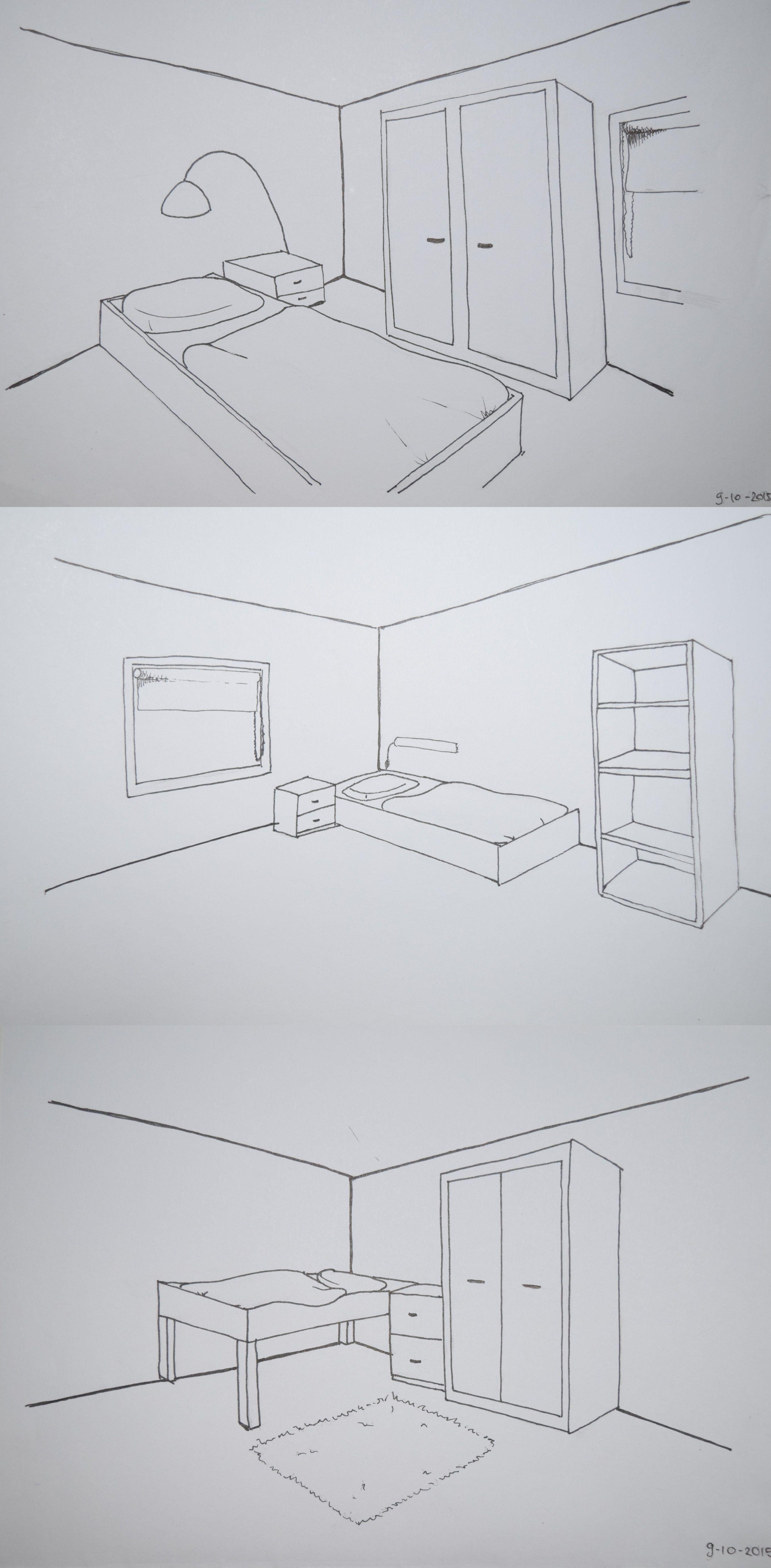 leerjaar 1 - schetsen - de opdracht was om te oefenen met het, Deco ideeën