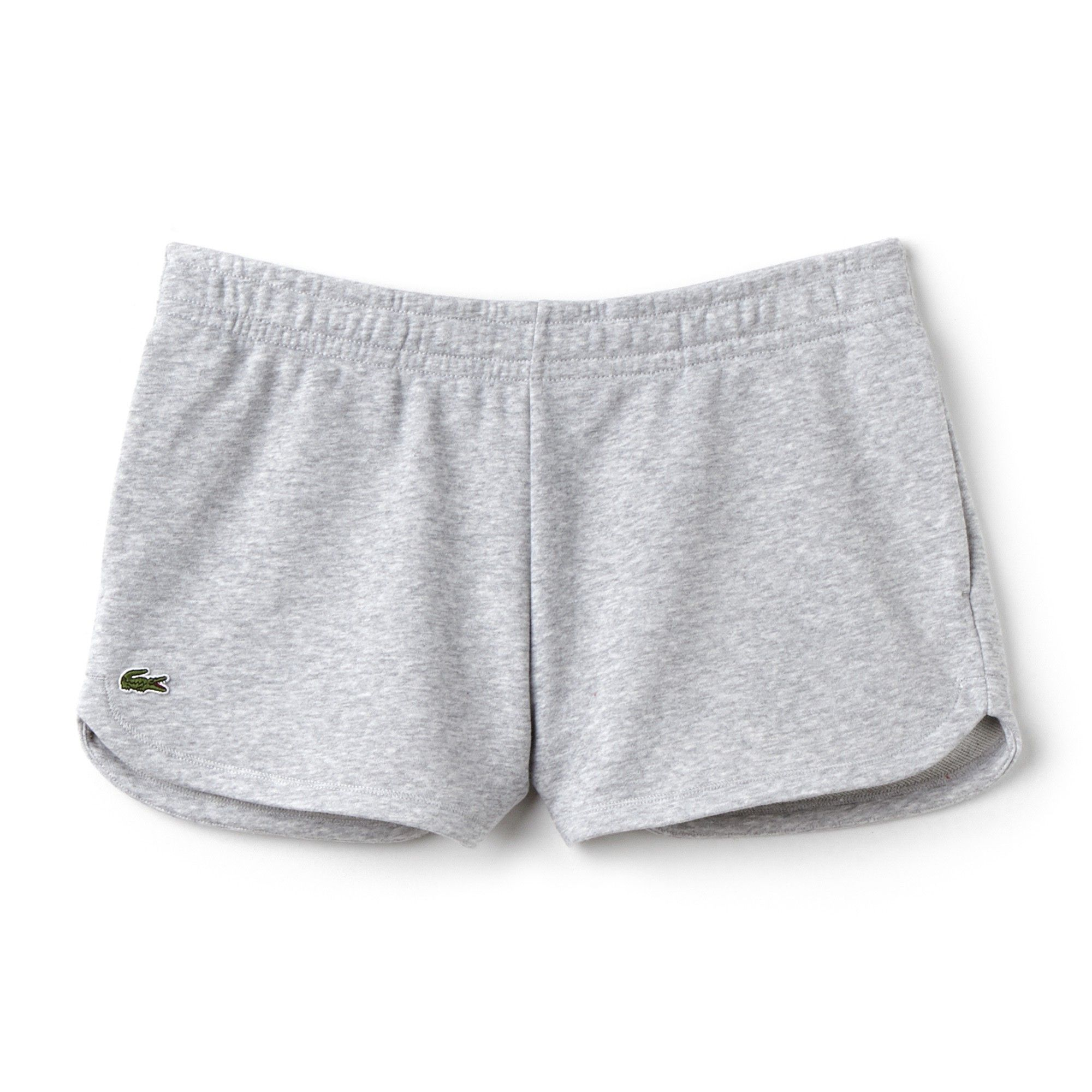 a8e2b60e3562a3 Lacoste Women s Sport Tennis Fleece Shorts - Silver Grey Chine 8 Gray