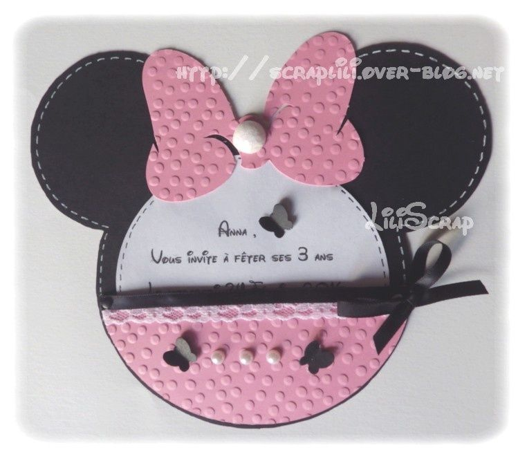 Souvent Faire-part Minnie | Cartes anniversaire fille | Pinterest  UP46