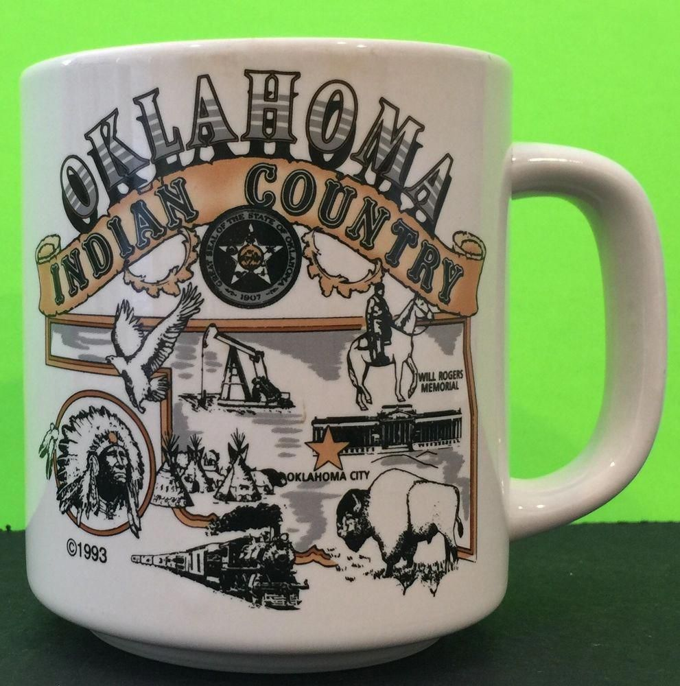 OKLAHOMA The Sooner State/Indian Country Mug, 1993