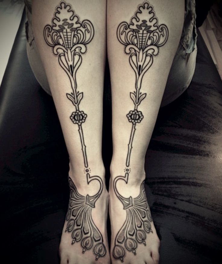 Feet tattoo designs art for women pictures