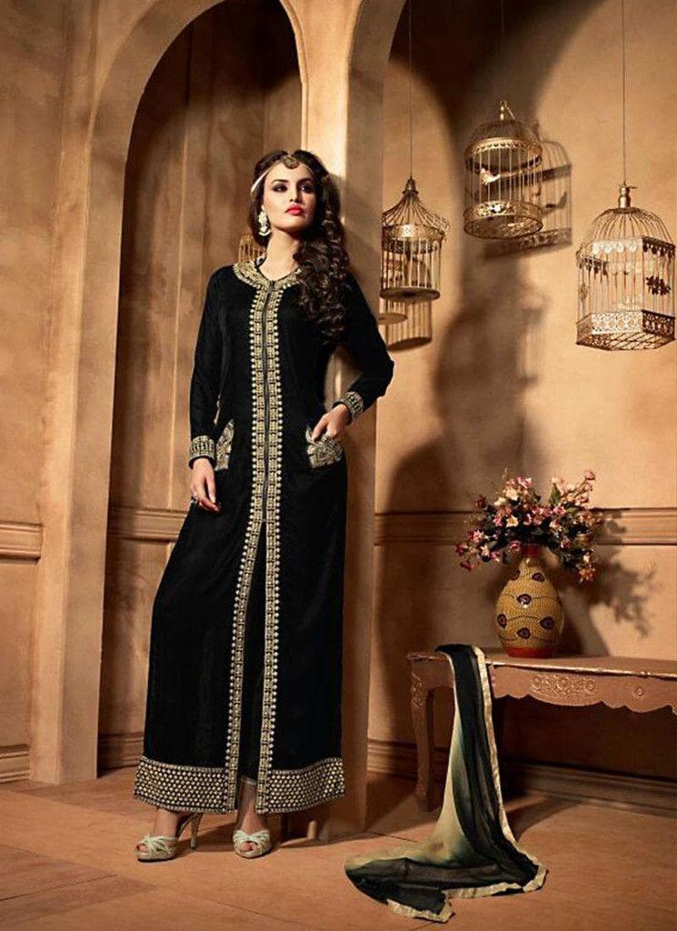 Black Velvet Salwar Kameez Online
