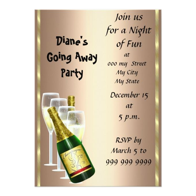 Farewell Party Invitation Card Good Bye Farewell Party Invitations