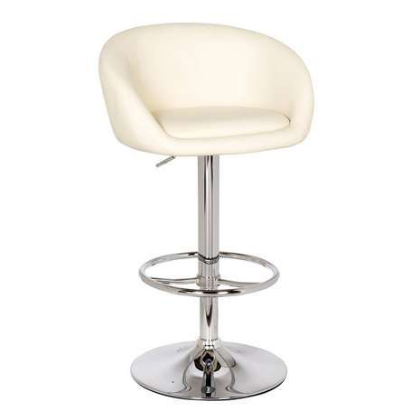 b5f459791236 ... this upholstered bar stool features a sturdy metal base and convenient  footrest. Easy to assemble, this bar stool is crafted with a gas lift ...