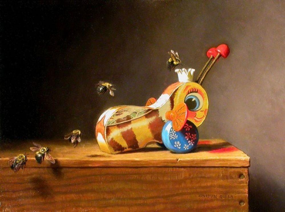 Jonathan queen bee line bee art queen art art