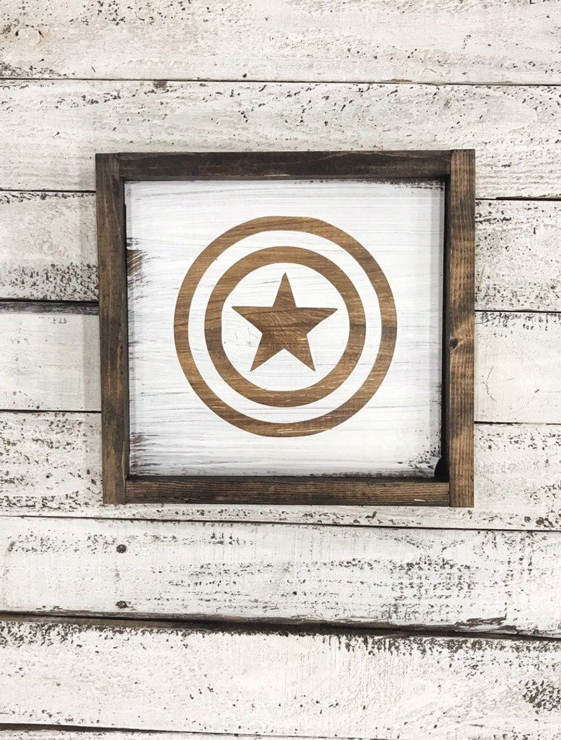 Kitchen Design 11x13 Room: Captain America Sign. Man Cave. Gift For Him. Movie