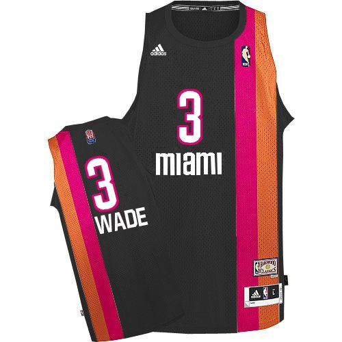 detailed look b4639 d9555 Adidas NBA Miami Heat 3 Dwyane Wade Swingman Retro Black ...