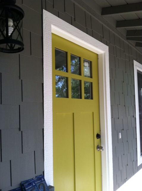 50 beautiful doors front door paint colors grey houses for Front door yellow paint