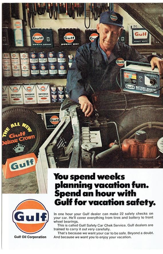 1967 Advertisement Gulf Dealer Safety Car Chek Service