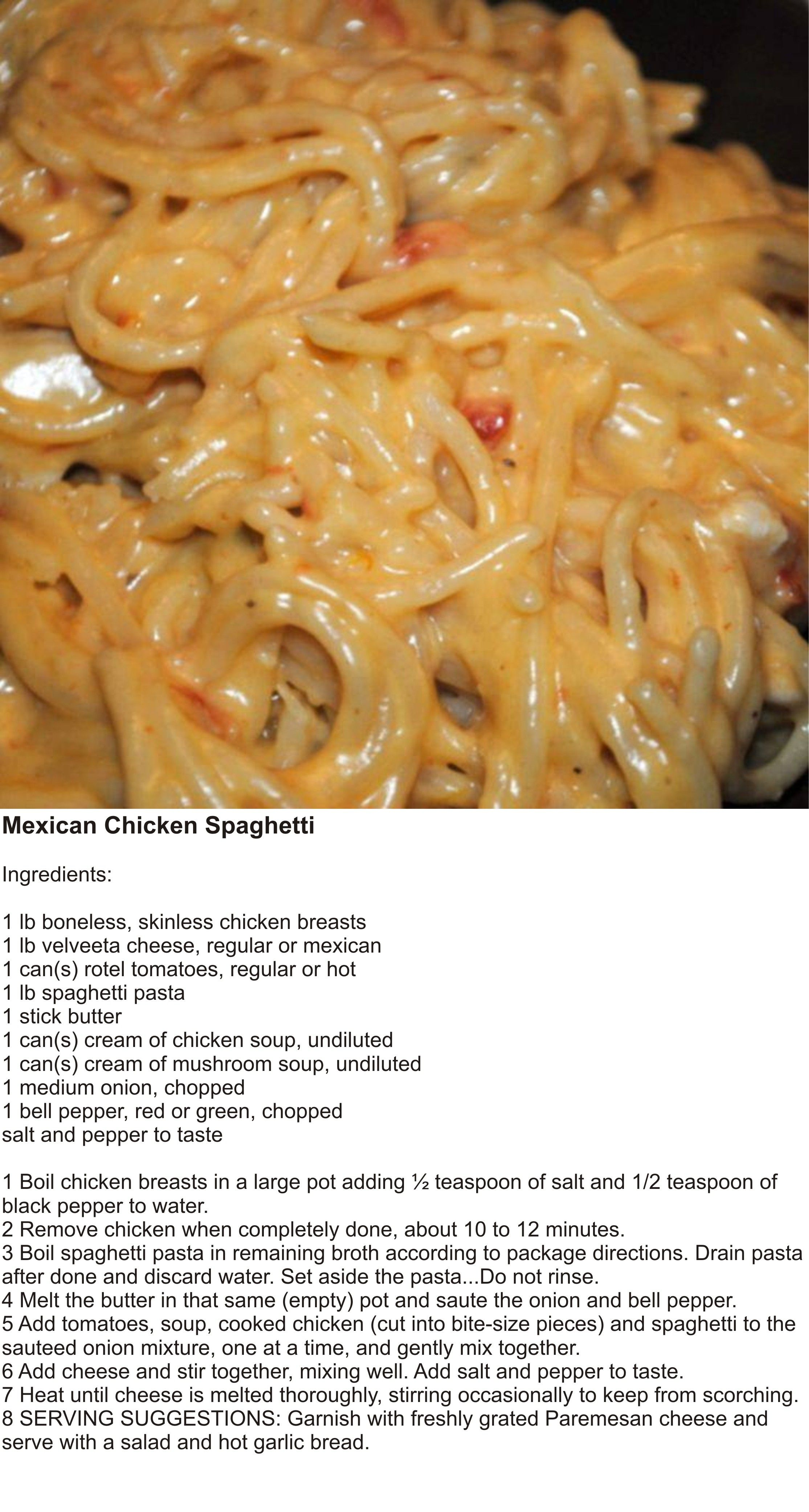 Mexican Chicken Spaghetti Recipes Food Recipies Food
