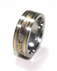 Dual Gold Inlay Camo ring. I love this ring for the lucky man!:)