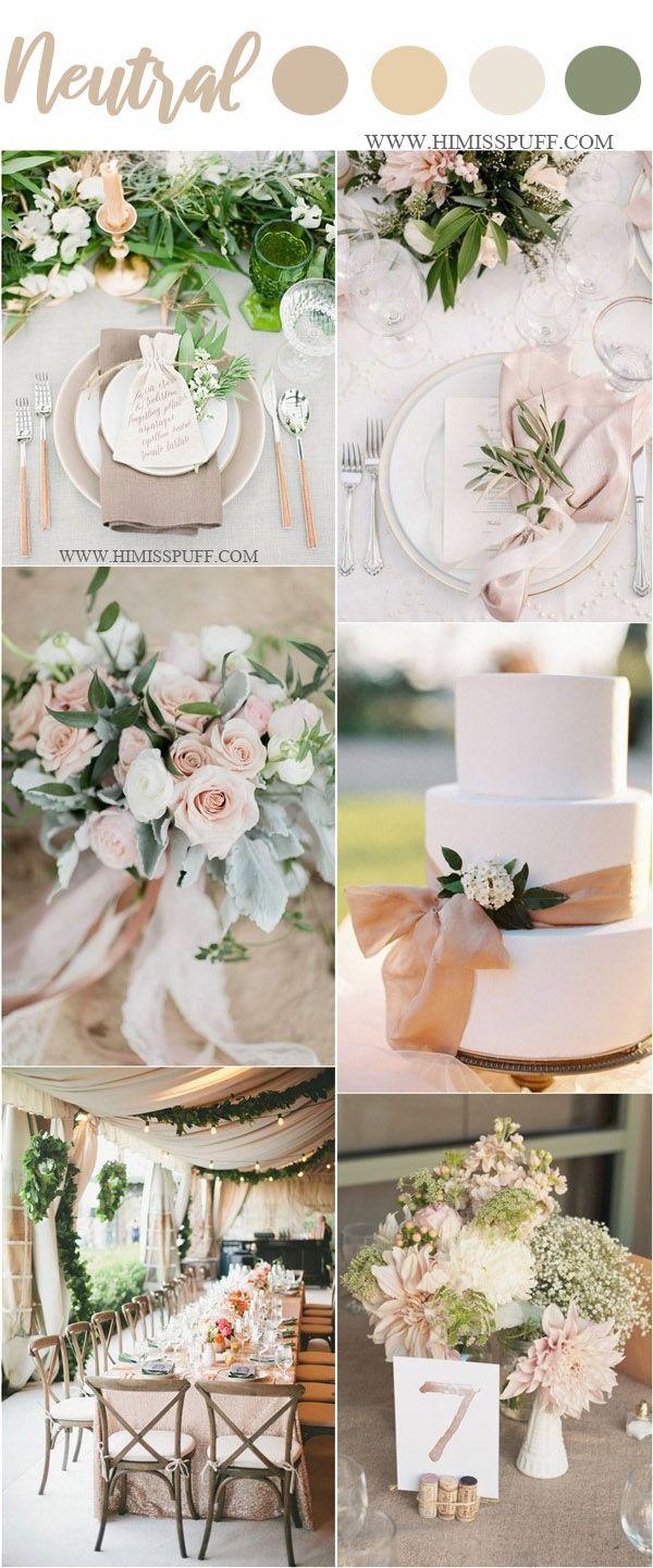spring neutral wedding color ideas #weddings explore Pinterest