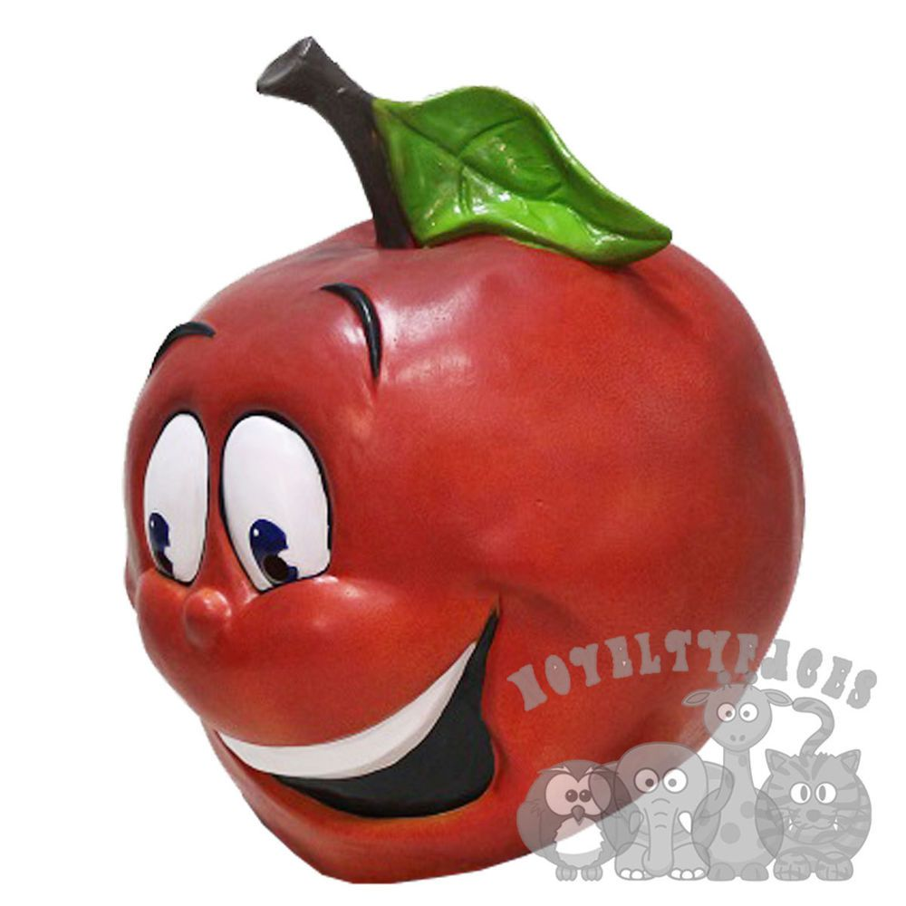 Latex overhead red apple face fruit symbol love cartoon latex overhead red apple face fruit symbol love cartoon photography fancy party biocorpaavc