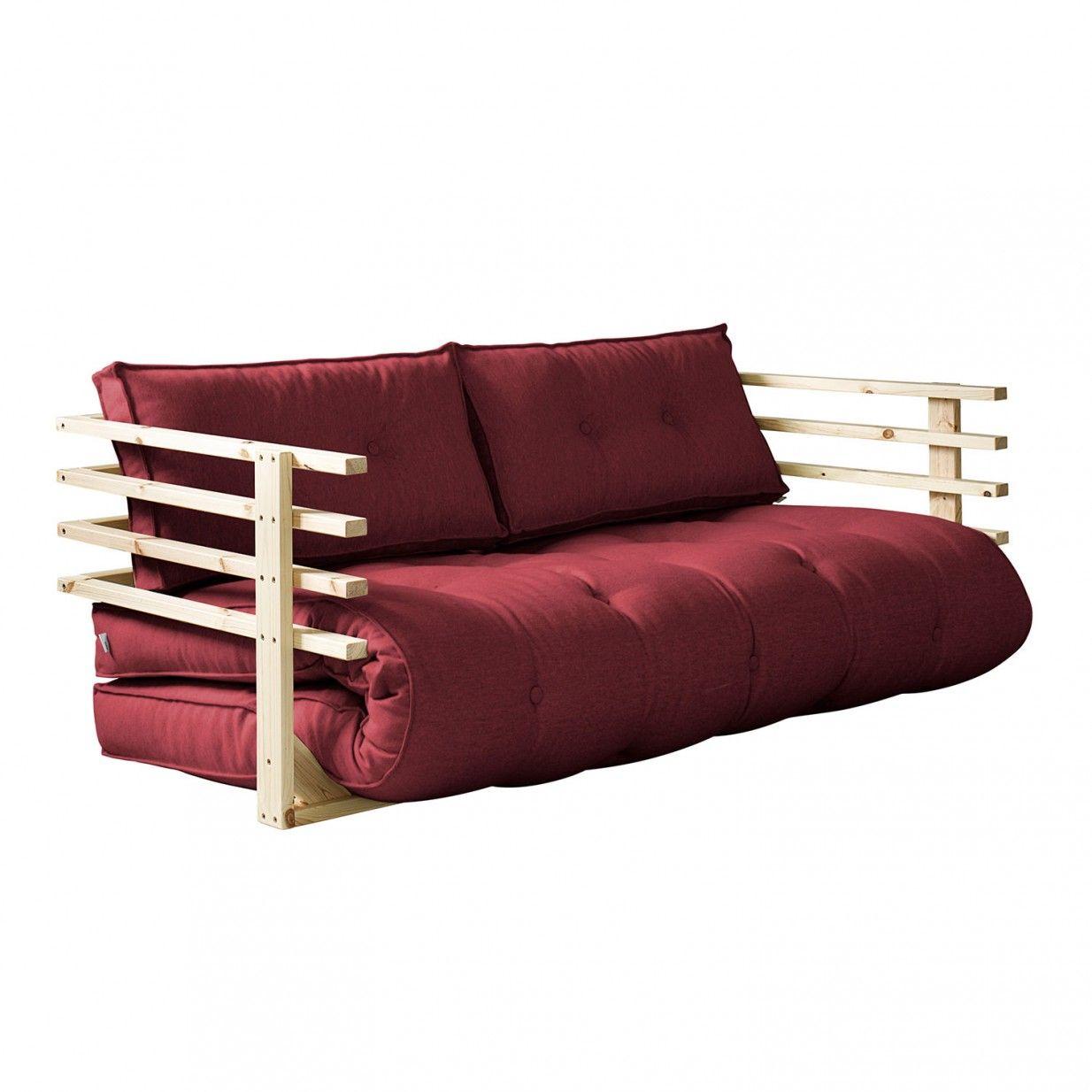 Funk Futon Sofa   Dark Red   Karup