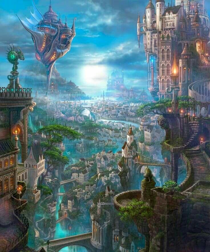 Eden Fantasy Fantasy Town Fantasy Setting Fantasy World Fantasy Village High