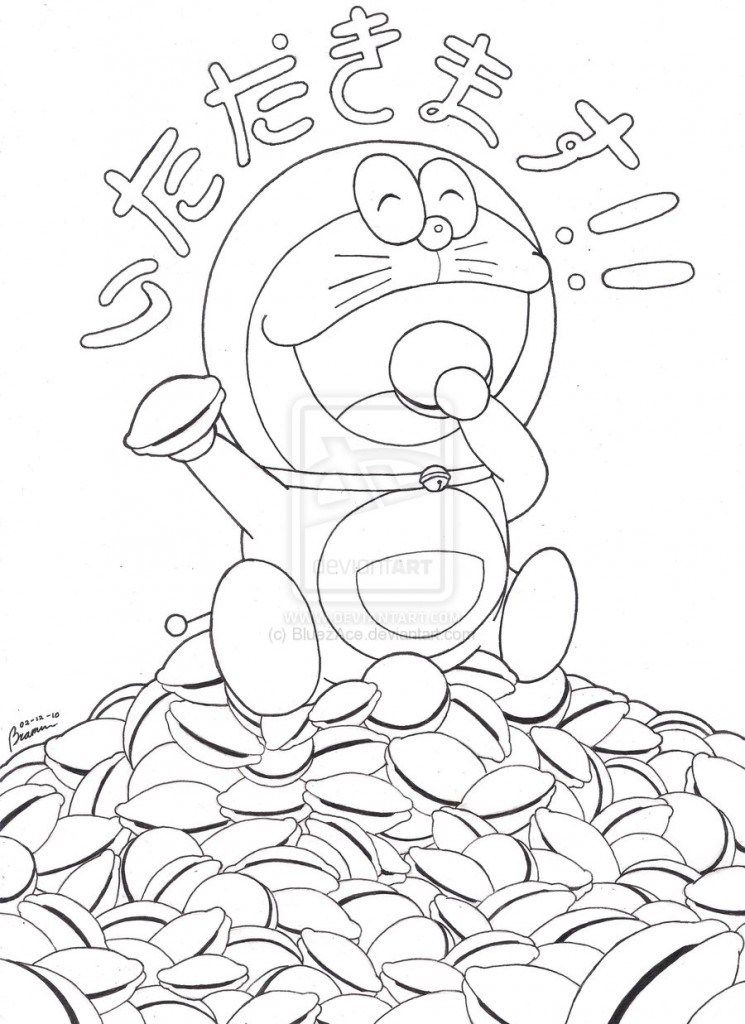 Coloring Pages Doraemon and Dorayaki Coloring Pages » Coloring Pages ...