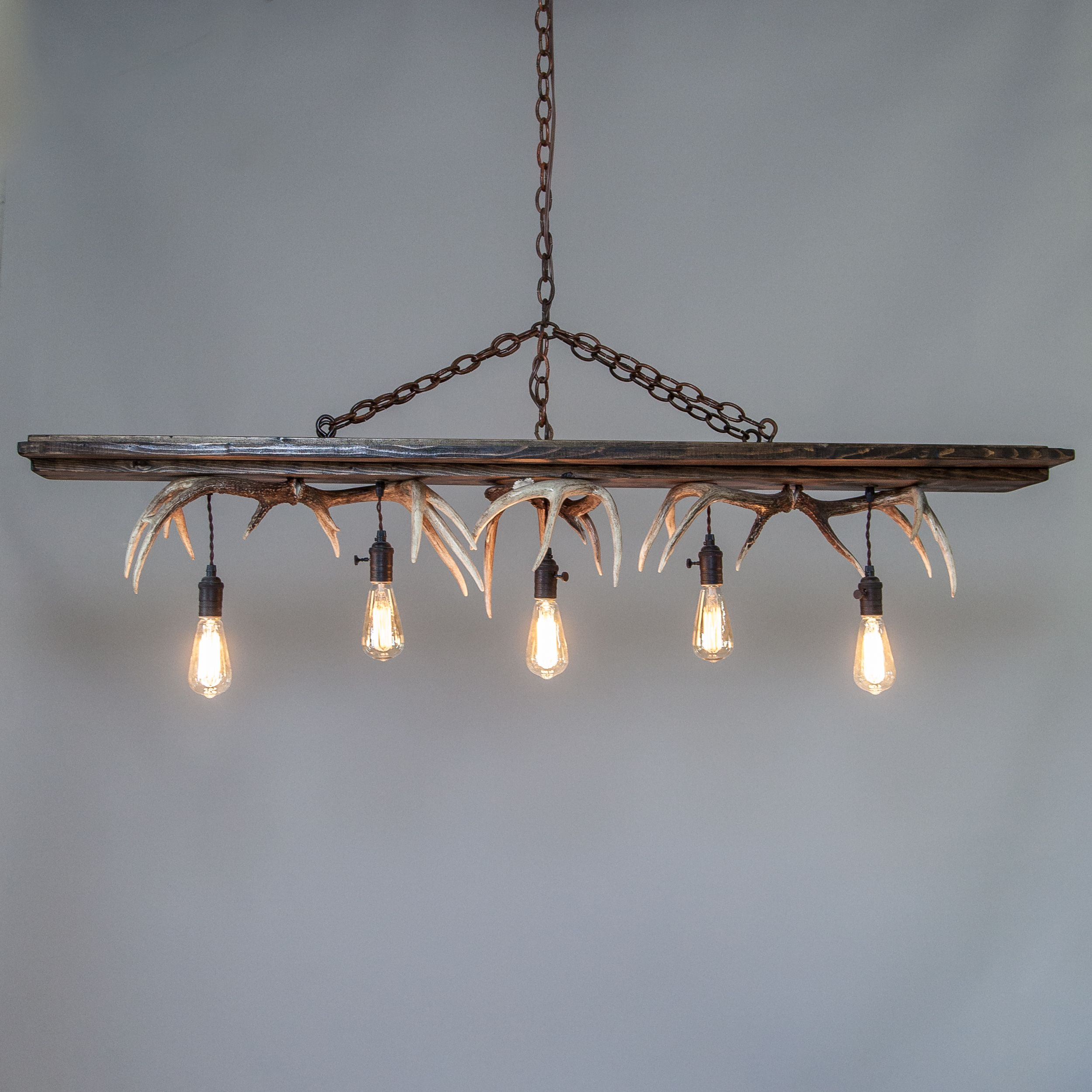 New mountain modern antler chandelier design has soft neutral wash mountain modern antler chandeliers and custom antler home furnishings arubaitofo Image collections