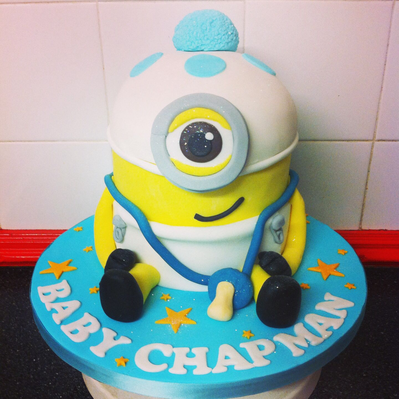 Minion baby shower cake …