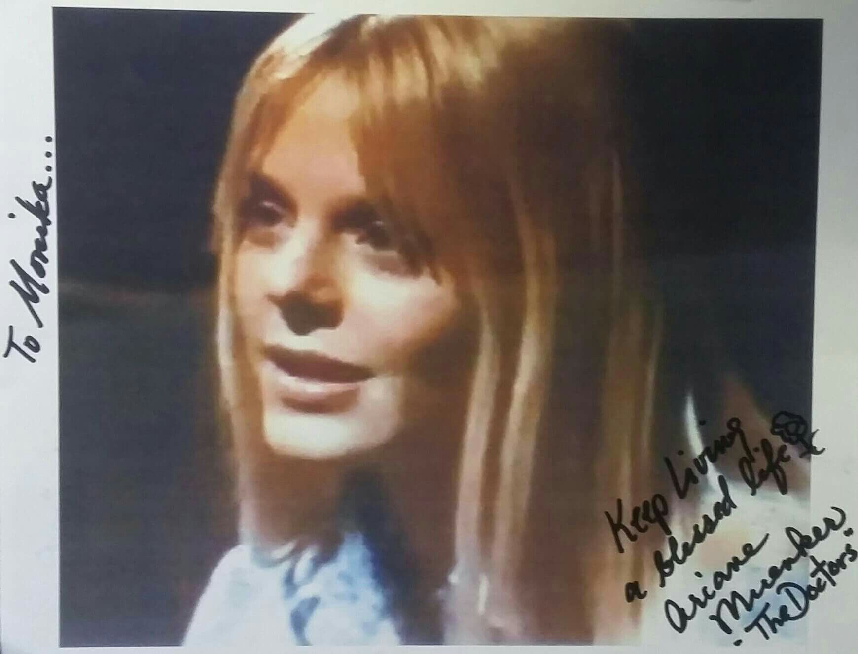 Autograph from soap opera veteran actress Ariane Muenker aka ...