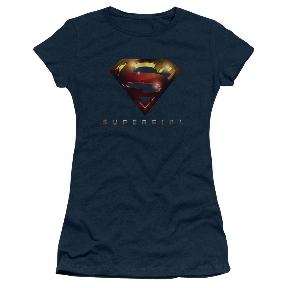 Supergirl Symbol III 3//4 Sleeve Women T-Shirt MED Size