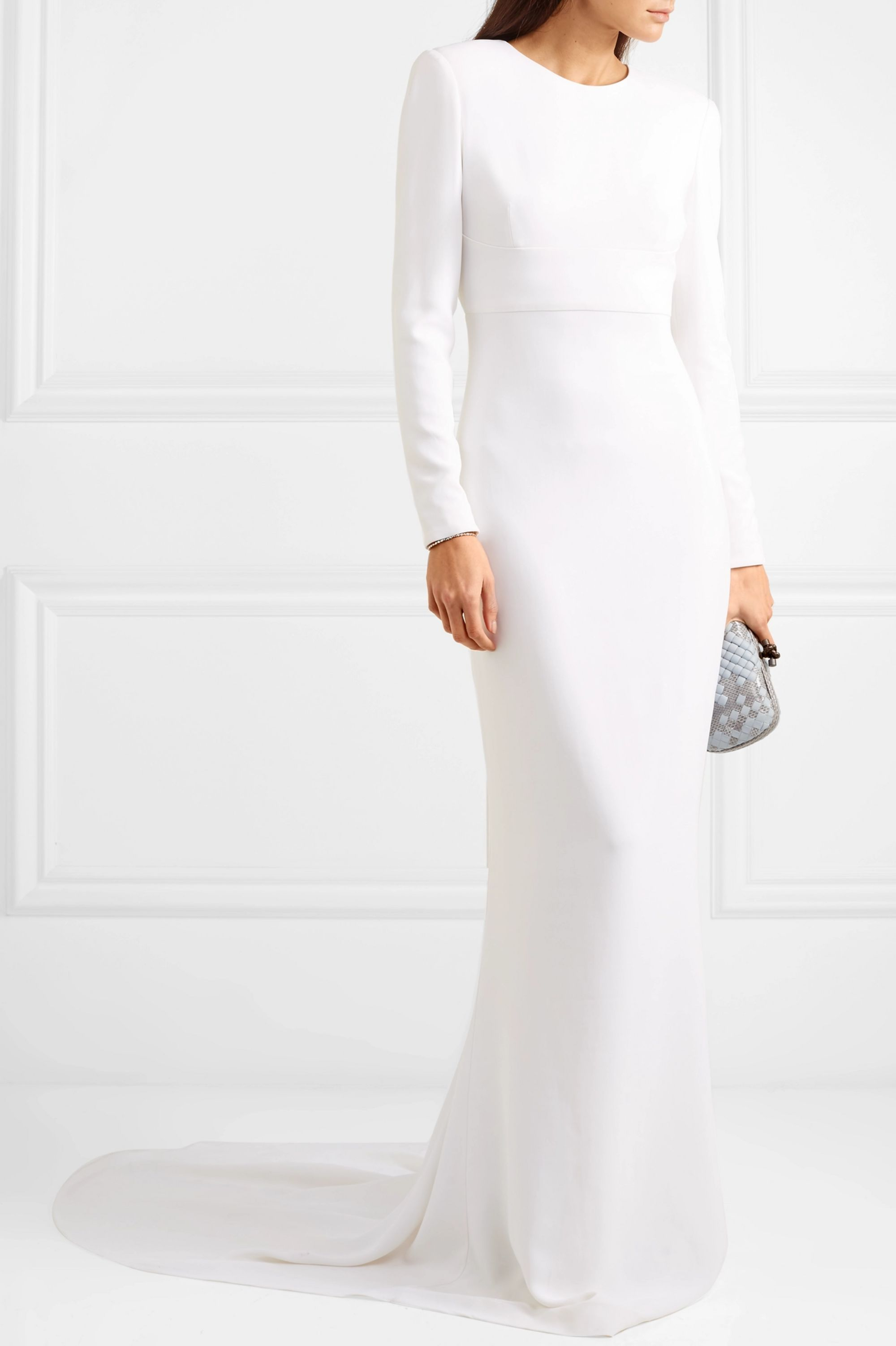 White Open Back Stretch Crepe Gown Stella Mccartney In 2021 Stella Mccartney Gowns Stretch Crepe [ 3001 x 2000 Pixel ]