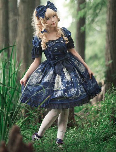 Wunderschönes Lolita Kleid mit Schleife - Lolitashow.com