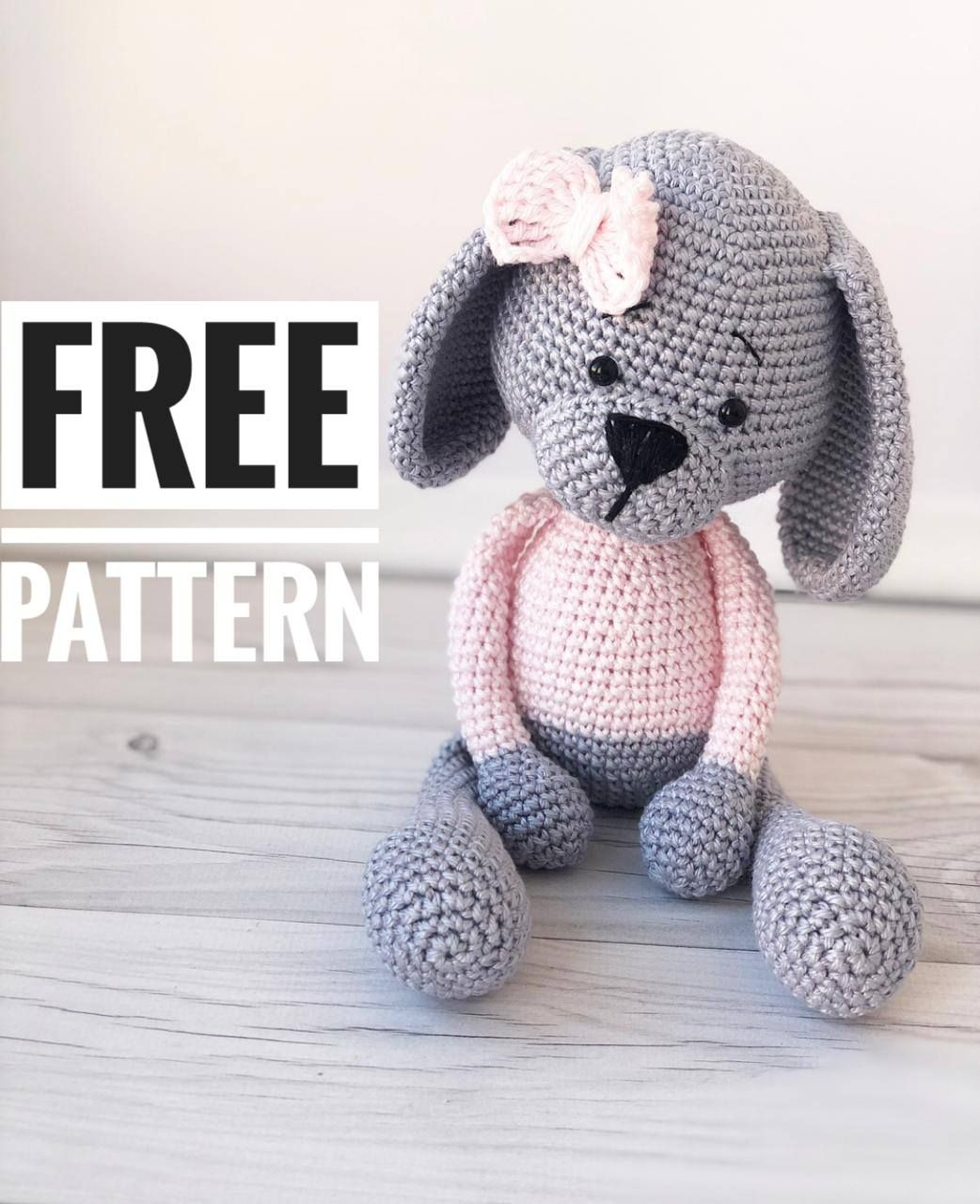 Amigurumi sweet dog pattern #amigurumicrochet