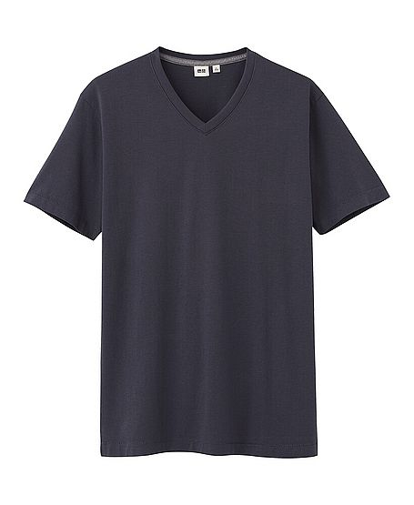 8eb59dcd294c MEN PREMIUM COTTON V NECK SHORT SLEEVE T-SHIRT  Small  Uniqlo ...