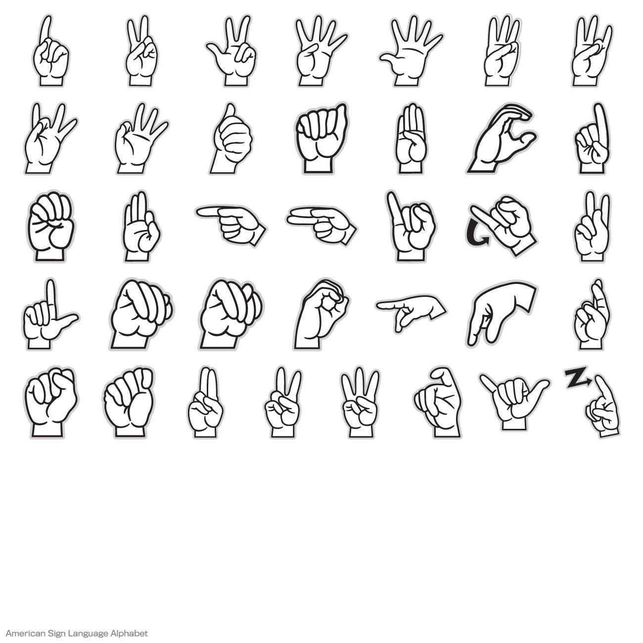 American Sign Language Alphabet Digital Set