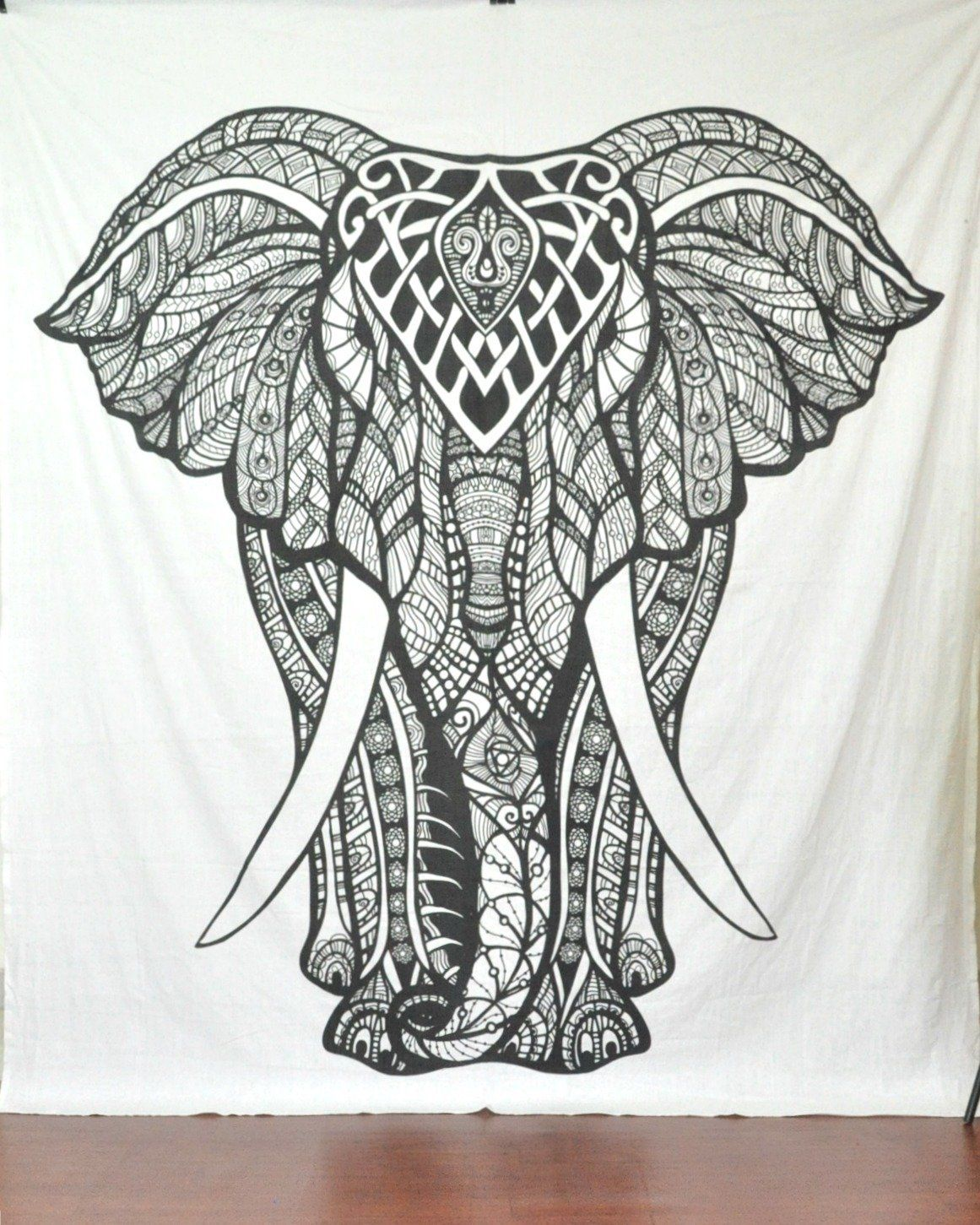 Large Wall Art For Living Room Handicrunch Indian Elephant Tapestry Hippie Tapestries