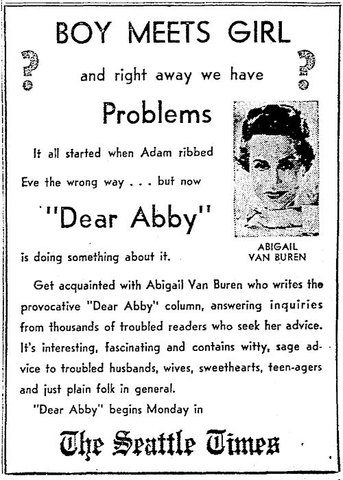 Hookup A Player Advice Columns Like Dear Abby