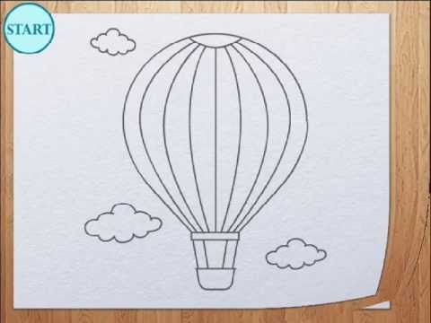 ▶ How to draw air balloon - YouTube