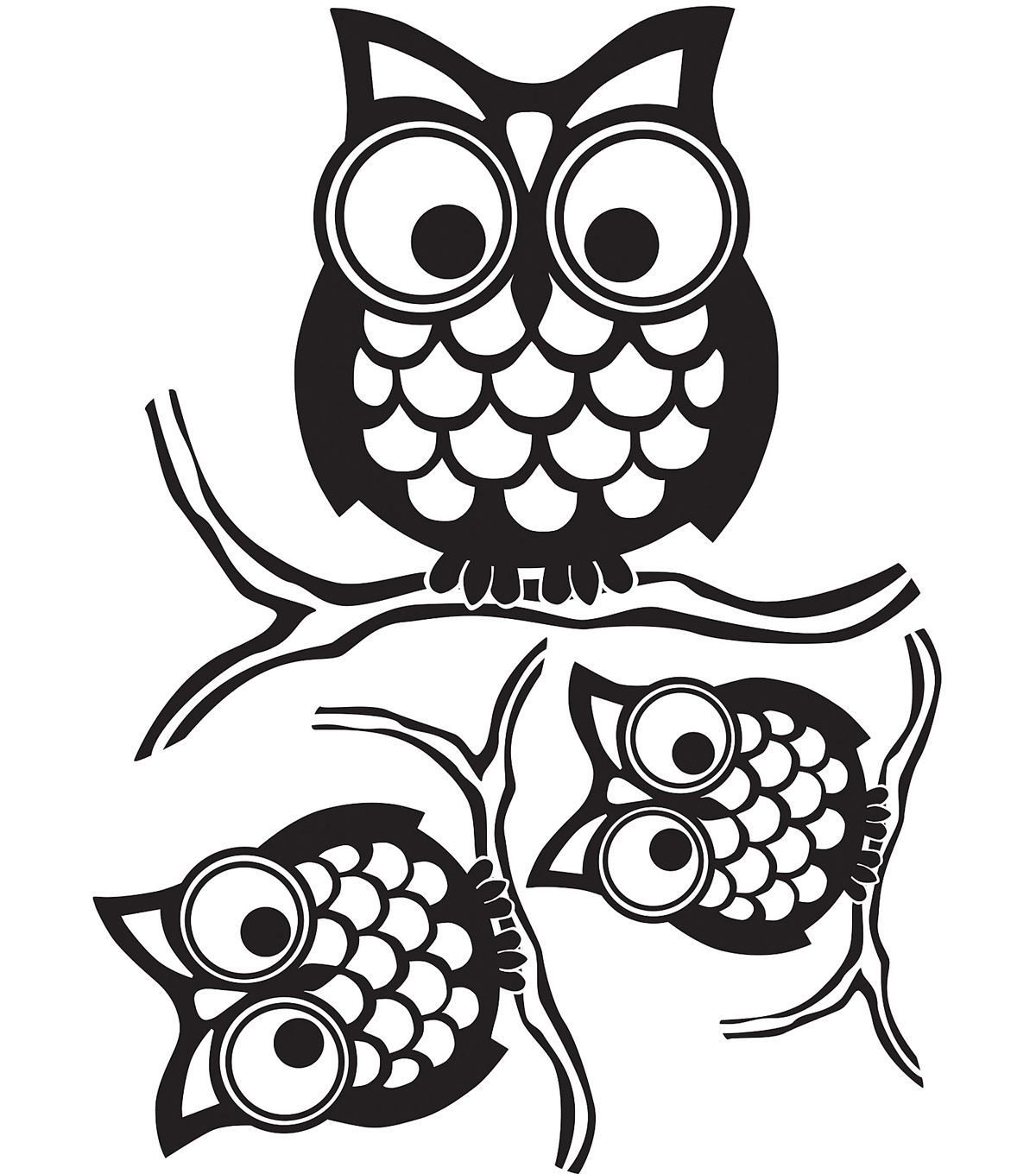 Wall Pops Give A Hoot Wall Art Decal Kit 3 Piece Set